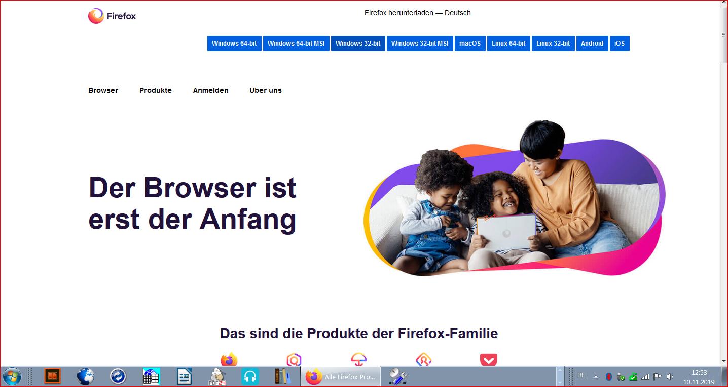 Firefox vom 10.11.2019