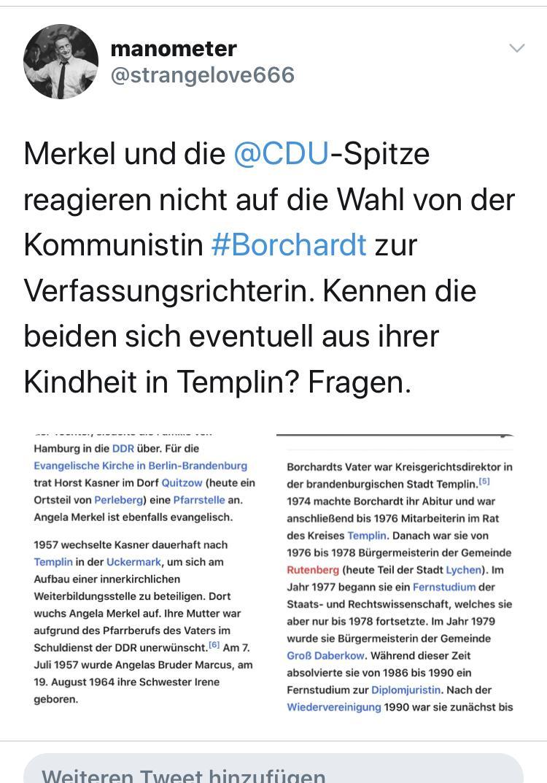 Merkel und Kommunistin