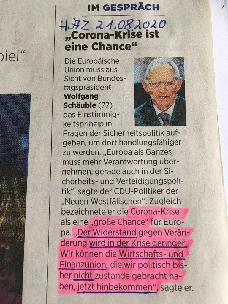 Schäuble teilt mit